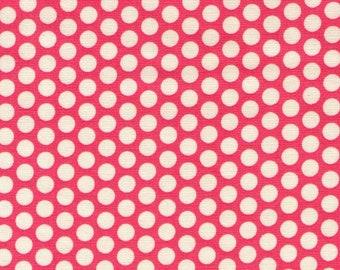 HALF YARD Yuwa Fabric - Cream Kei Honeycombs on Pink - Color 101 - Polka Dots by Kei - Japanese Import Fabric