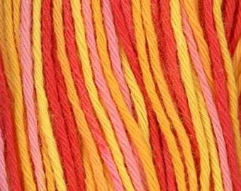 Sashiko Thread #75 Pink, Orange and Yellow Variegated - 100% cotton - 20 meter (22 yd) skein - Hand Stitching- Japanese Import
