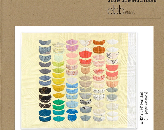 SLOW SEWING Studio - ebb #1408 Quilt Pattern - Carolyn Friedlander Pattern