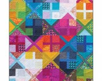 "Alison Glass Patterns - ALTERNATIVE Quilt Pattern by Nydia Kehnle & Alison Glass - 52"" x 63"" Quilt Pattern - Foundation Paper Piecing"