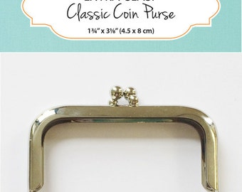 ZAKKA WORKSHOP Hardware -Classic Coin Purse Clasp Only - Extra Clasps - Japanese Patchwork Pattern