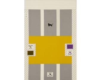PANEL Lecien - Make It Magic by Koko Seki - Tote Bag Grey and Yellow - 40840-50 - Canvas Japanese Import