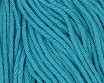 Sashiko Thread #17 CYAN BLUE - 100% cotton - 20 meter (22 yd) skein - Hand Quilting and Stitching- Japanese Imported