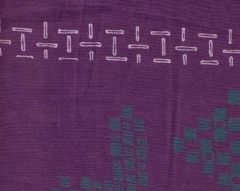 HALF YARD Yuwa - Small Motifs on Purple - Yoshiko Jinzenji - Low Volume Print - Japanese Import Fabric JZ312677-E