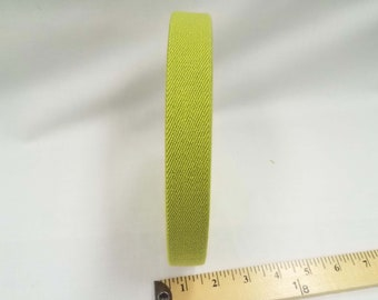 HALF YARD - Japanese Elastic Webbing - Color 743 Green - 25MM WIDE - Item 132525 Japanese Imported