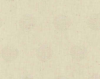 HALF YARD Kokka - Yarn Dyed Jacquard - Natural - LG 19110 1D - Japanese Import