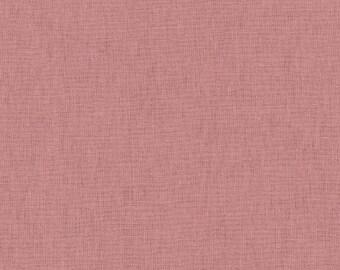 HALF YARD Kokka -Tayutou Solid Dusty Pink - JG-50810-10N- 45 Cotton 55 Linen Lightweight Canvas - Japanese Import Fabric Solids