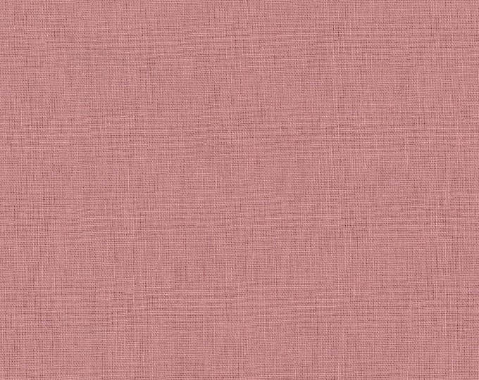 HALF YARD Kokka -Tayutou Solid Dusty Pink - JG-50810-10N- 45 Cotton 55 Linen Lightweight Canvas - Japanese Import Fabric Solids