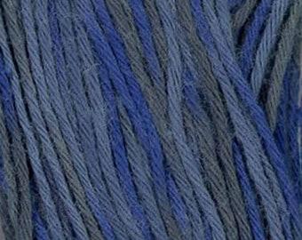 Sashiko Thread #98 Midnight Variegated Short Pitch - 100% cotton - 20 meter (22 yd) skein - Blue Grey - Hand Stitching- Japanese Import