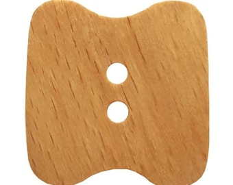 Wooden Button - 28 mm - Colorway Natural   - Made in Germany - Hand Washable - Not Dry Cleanable