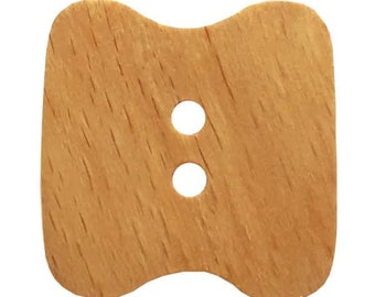Wooden Button - 34 mm - Colorway Natural   - Made in Germany - Hand Washable - Not Dry Cleanable