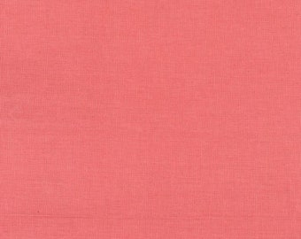HALF YARD Kokka - Echino Solid Light Salmon Pink  JG-95410-10L - Japanese Import Fabric Solids