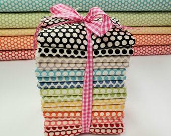 HALF YARD Bundle - Kei Honeycombs  16 Pieces - Polka Dots by Kei Yuwa - Japanese Import Fabric