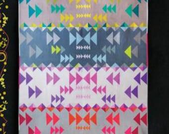 "Alison Glass Patterns - Flight Path Quilt Pattern by Mary Menzer & Alison Glass - 56"" x 68"" Quilt Pattern - Skill Builder Series"
