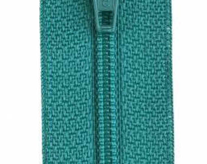 Coats & Clark - All-Purpose Polyester Coil Zipper - BLUE TURQUOISE - Choose length 14, 18 and 22 inches