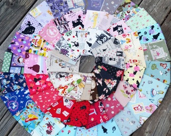 Fairytale SCRAP PACK - 60 Pieces - Little Red Riding Hood, Alice in Wonderland, Frog Prince, Cinderella - Japanese Import