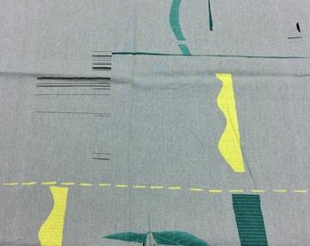 HALF YARD Yuwa - Quilt  JZ442685-C Yoshiko Jinzenji - 100% Linen - Low Volume Print - Japanese Import Fabric