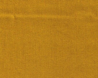 HALF YARD Kokka - Echino Solid Mustard Yellow JG-95410-10E - Japanese Import Fabric