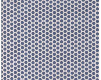 HALF YARD Yuwa Fabric - Blue Kei Honeycombs on Cream - #19 colorway - Polka Dots by Kei - Japanese Import Fabric