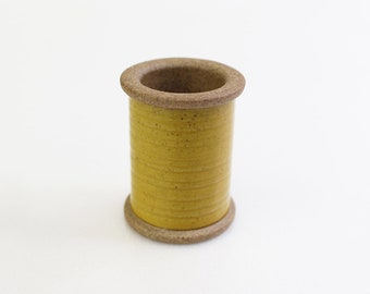 Cohana - Yellow - Magnetic Spool Pin Holder of Hasami Ware - Japanese Import