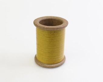 Cohana - Yellow - Magnetic Spool Pin Holder of Hasami Ware - Japanese Import