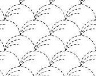 "OLYMPUS Sashiko sampler Traditional Design Nowaki on WHITE SC-0001 - 12"" Pillow or Dish towel - Hand Quilting and Stitching Japanese"