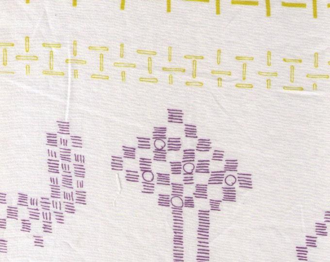 HALF YARD Yuwa - Small Motifs on Ivory Natural White - Yoshiko Jinzenji - Low Volume Print - Japanese Import Fabric JZ312677-B