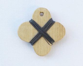 Cohana - Grey - Wooden Thread Winder - Japanese Import