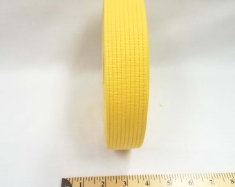 HALF YARD - Japanese Webbing - Color 706 Yellow - 40MM WIDE - Item 684040 Japanese Imported