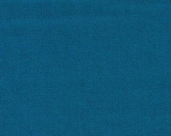 HALF YARD Kokka - Echino Solid Turquoise Blue JG-95410-10D - Japanese Import Fabric