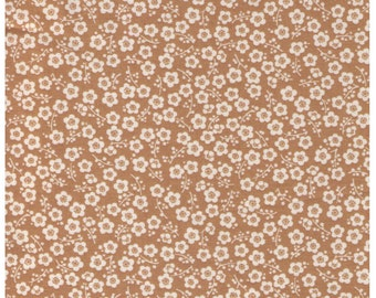 HALF YARD Cherry Blossoms on Golden YELLOW 1350 2B - Traditional Japanese Sakura design Cherry Tree Delicate Flowers - Cosmo Japanese Fabric