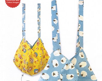 QH Textiles Sewing Pattern - OCTAGON Bag - 2 Sizes and Reversible - Great for Beginner to Intermediate Sewers - Japanese Patchwork Pattern