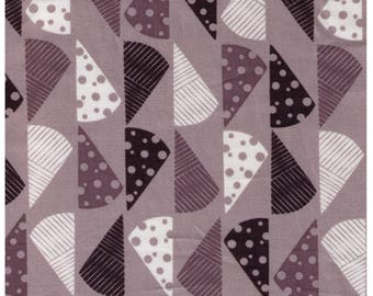 HALF YARD Yuwa Cotori Couture - Cheese Wedges on GREY Background - Designs by Anyan for Cotorienne - Slate Gray Black - Japanese 152164