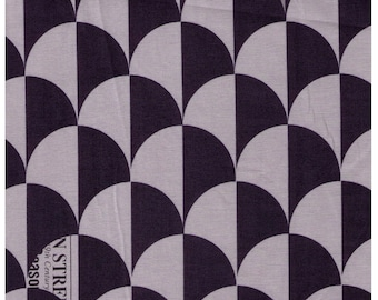 HALF YARD Yuwa - Scallop in Grey/Navy - Suzuko Koseki  826271-D - Clamshell, Scale, Wave Pattern - Japanese Import Fabric