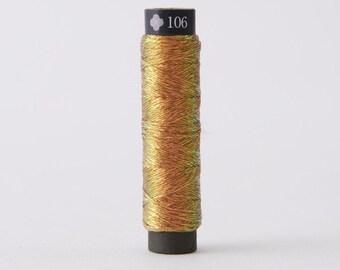 Cosmo - Nishikiito Metallic Embroidery Thread Opali - Beer Color 78-106 - Japanese Import