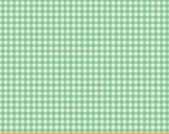 HALF YARD - Gingham in Aqua Blue - 50899-8  Trixie by Heather Ross - Windham Fabrics