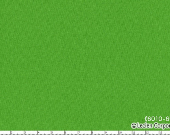 HALF YARD Lecien - 6010L-6003 Kiwi - 1000 Color Solids  - Japanese Import Fabric