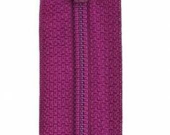 Coats & Clark - All-Purpose Polyester Coil Zipper - Fuchsia - 22 inch