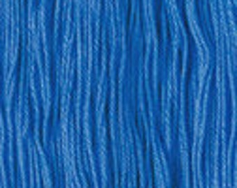 Daruma Yokota Sashiko Thread #17 BLUE - Light Sport Solid Color - Red Label - 100% cotton 100 meter skein - Japanese Hand Quilting Stitching