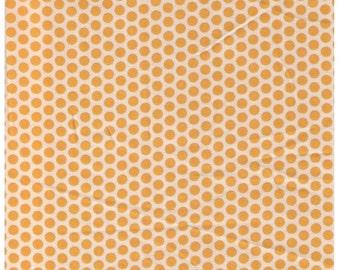HALF YARD Yuwa Fabric - Yellow Kei Honeycombs on Cream Ivory- Polka Dots by Kei - Japanese Import Fabric