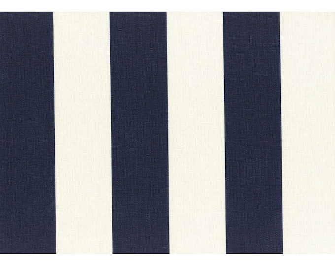 HALF YARD Lecien - Cotton Style - Navy and White Stripes - 40634-70 - Canvas Japanese Import