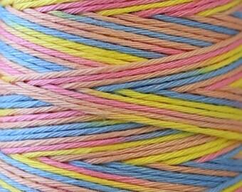 COSMO Hidamari Sashiko Variegated Thread #303 Rainbow Sorbet - 100% cotton - 30m (32.8 yds) skein - Hand Quilting Stitching - Lecien