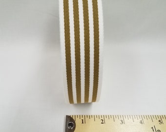 HALF YARD - Japanese Webbing - Color 240 Light Tan and Cream - 40MM WIDE - Item 1540401 Japanese Imported