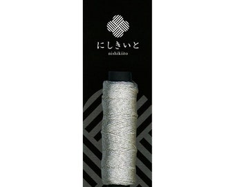 Cosmo - Nishikiito Metallic Embroidery Thread Nishiki - Hakugin 77-23 - Japanese Import