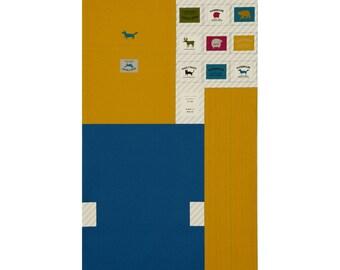 PANEL Lecien - Make It Magic by Koko Seki - Messenger Bag Blue and MARIGOLD- 40842-50 - Canvas Japanese Import