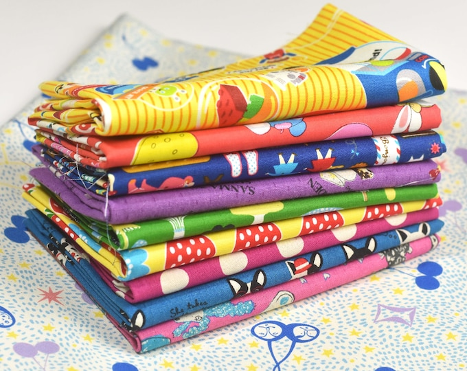 QUILT KIT - January Top-A-Long for Running Doe Quilts - Asagail Quilt - Fabric for Quilt Top -Japanese Import