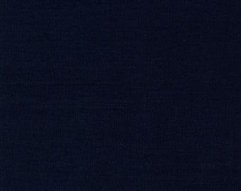 HALF YARD Kokka - Echino Solid Dark Navy Black JG-95410-10Q - Japanese Import Fabric Solids
