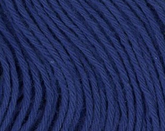 Sashiko Thread #18 ROYAL BLUE - 100% cotton - 20 meter (22 yd) skein - Hand Quilting and Stitching- Japanese Imported