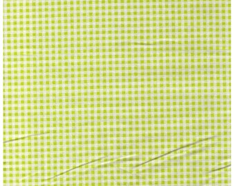 HALF YARD - Lecien Color Basic - Lime Green Gingham Pinic 4522-G -- Japanese Import Fabric