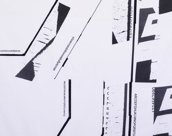HALF YARD Yuwa - Lines by Yoshiko Jinzenji JZ442684-A - 100% Linen - Low Volume Print - Japanese Import Fabric